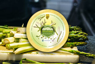 New: Aspargio farmhouse cheese with asparagus